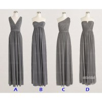 grey bridesmaid dresses, mismatched bridesmaid dresses ...