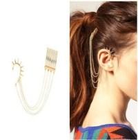 Ear to Hair Chain Earring on Storenvy