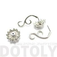 Sunflower Flower Shaped Fake Gauge Plug Stud Earrings in ...