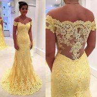 Yellow prom dress,A