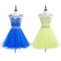Royal Blue Open Back Prom Dresses with Sparkle Beads ...
