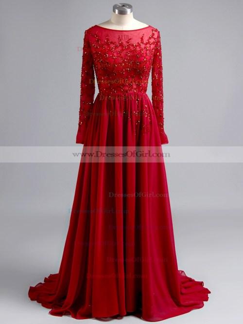 Medium Of Long Sleeve Prom Dress