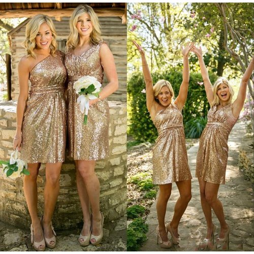 Medium Crop Of Gold Sequin Bridesmaid Dresses