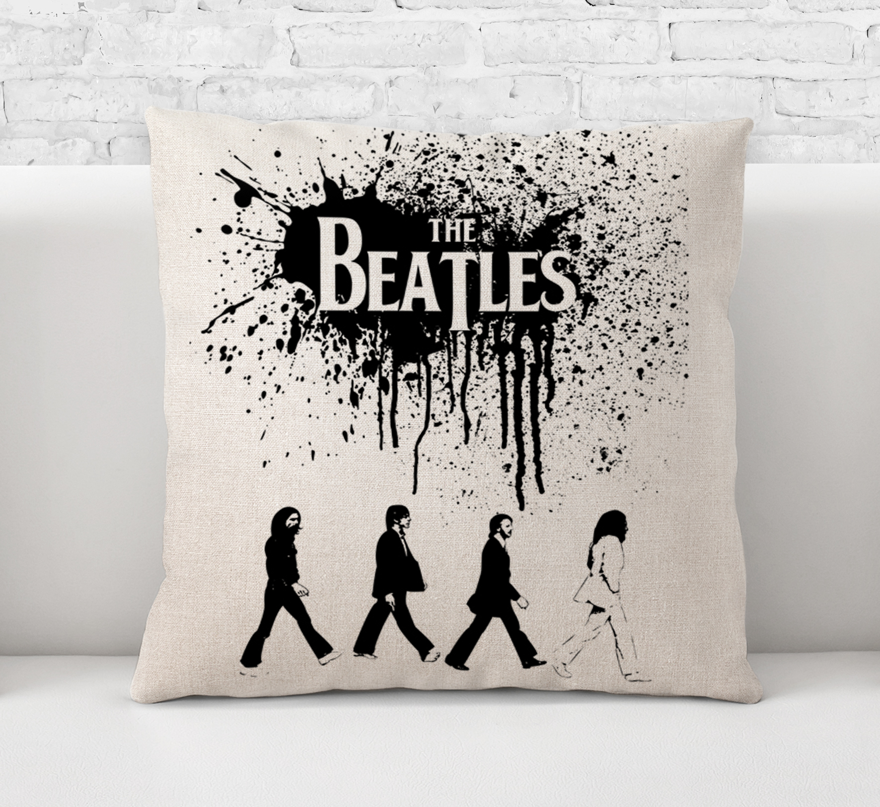Rock Music Cover Throw Pillow Case Cushion Cover The Beatles Abbey Road Rock And Roll Pop Music Legend 60s Band Art 0129 From Art Popop