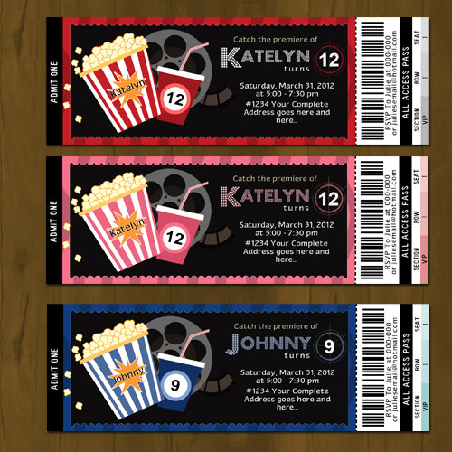 Movie Night Ticket Invitation on Storenvy - ticket invitation
