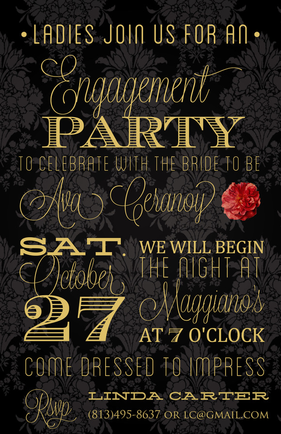 Engagement Party Invitation Templates \u2013 gangcraftnet - free engagement party invites