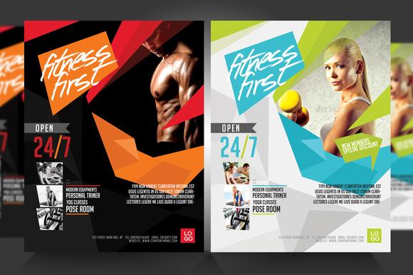 Template - Fitness Flyer Gym Flyer V3 » Logotire - fitness flyer
