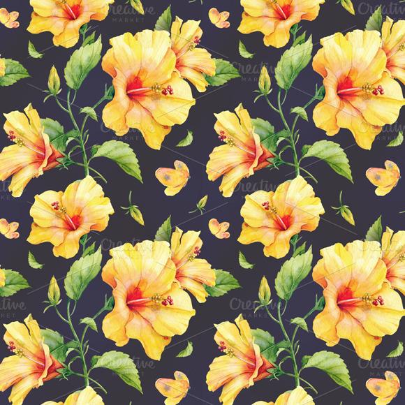 Dark Floral Iphone Wallpaper Hibiscus Pattern