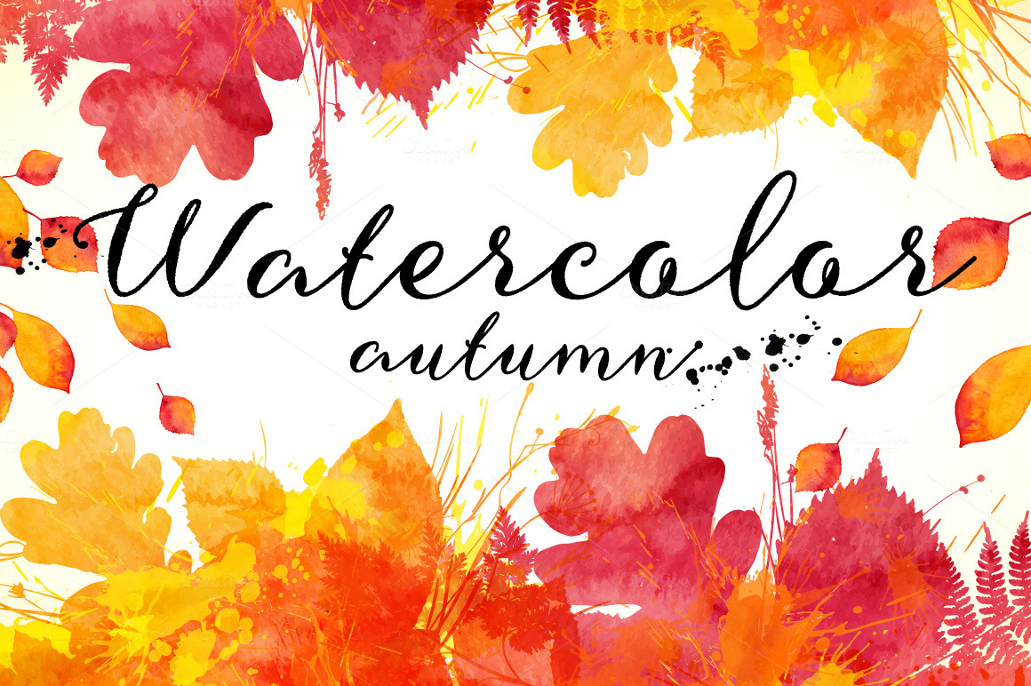 Free Fall Wallpaper For Pc 15 Watercolor Autumn Backgrounds Textures On Creative Market