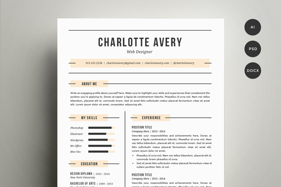how to get a resume template onto word