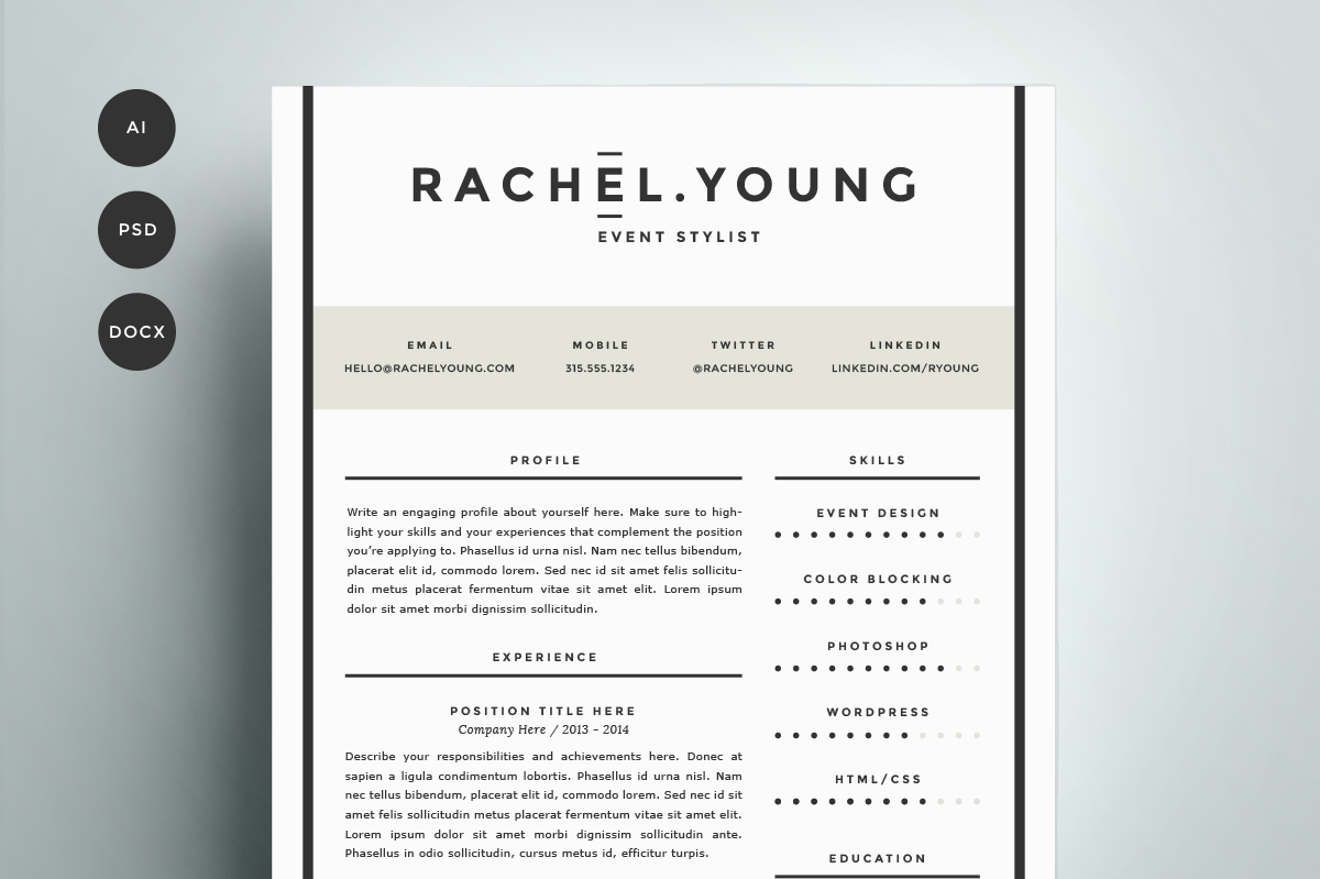 tumblr blog cv free template