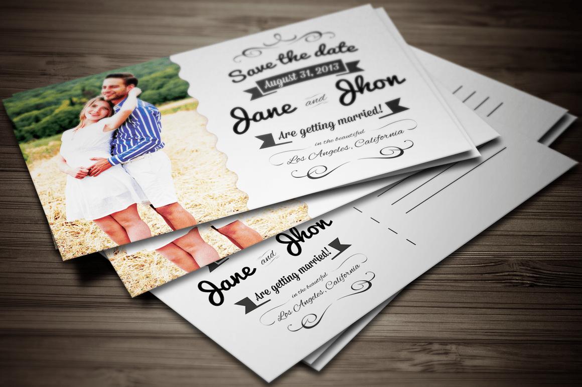 postcard wedding invitations template free