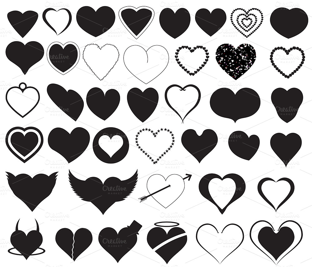 Cute Tribal Patterns Wallpaper Hearts Silhouettes Illustrations On Creative Market