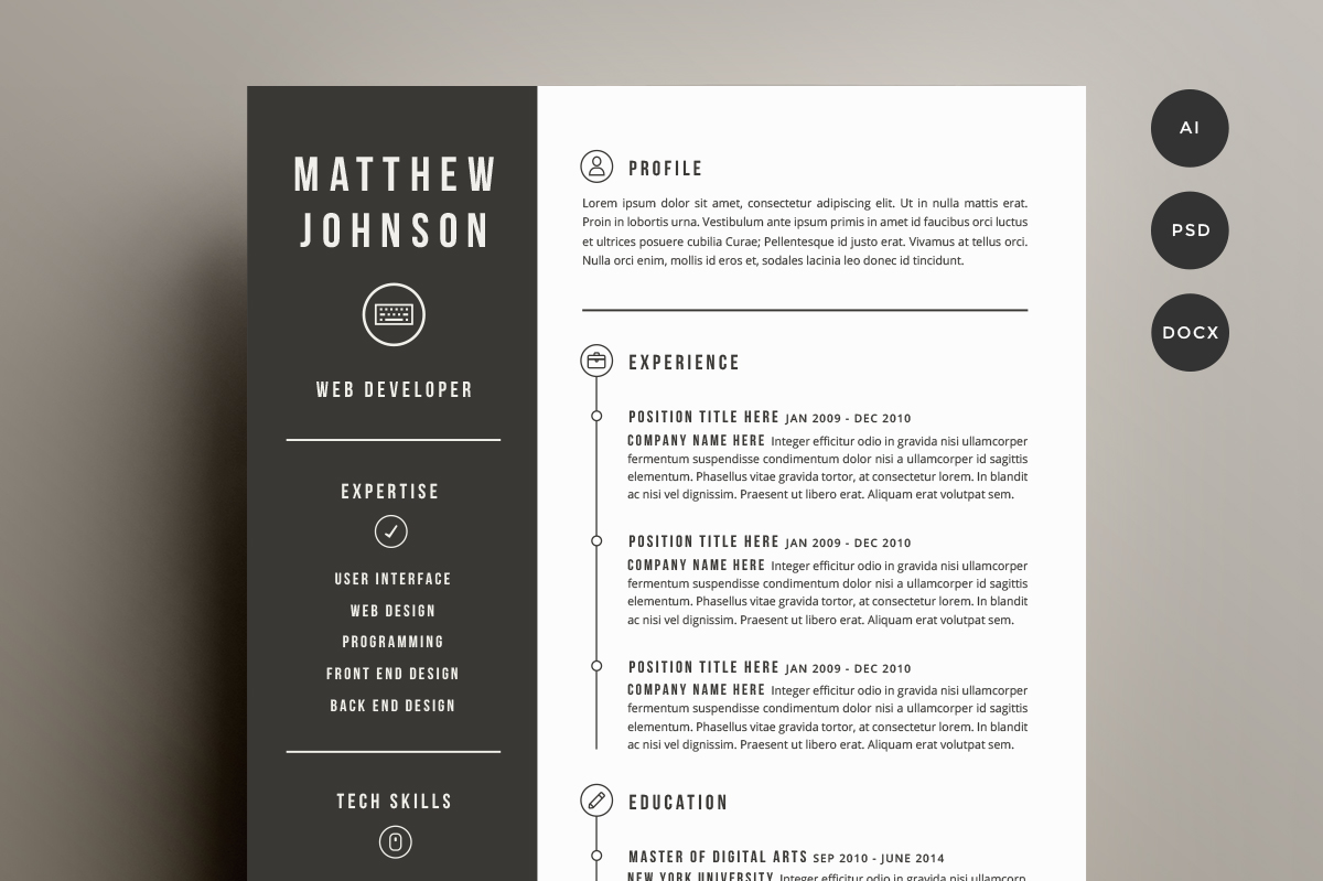 free creative resume templates word resume templates creative word - Free Creative Resume Templates Word
