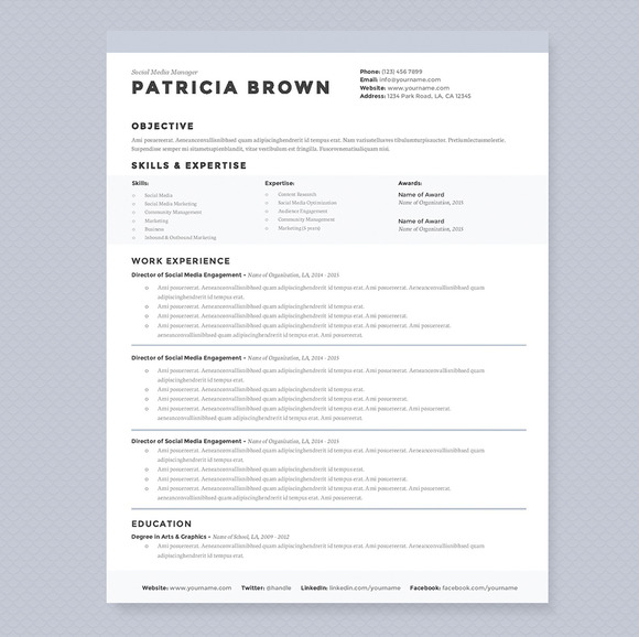 Resume Cover Letter Docx Weebly Clean Resume Template Pkg Resume Templates On Creative