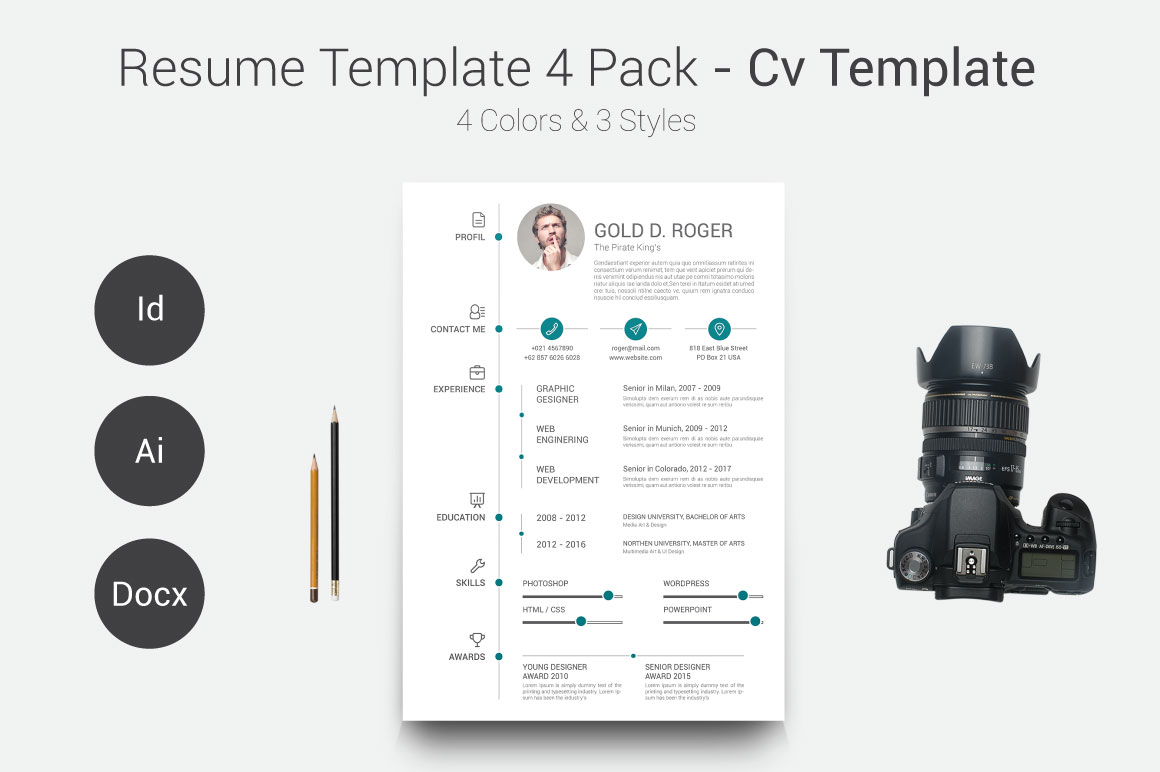 cv lm template pack