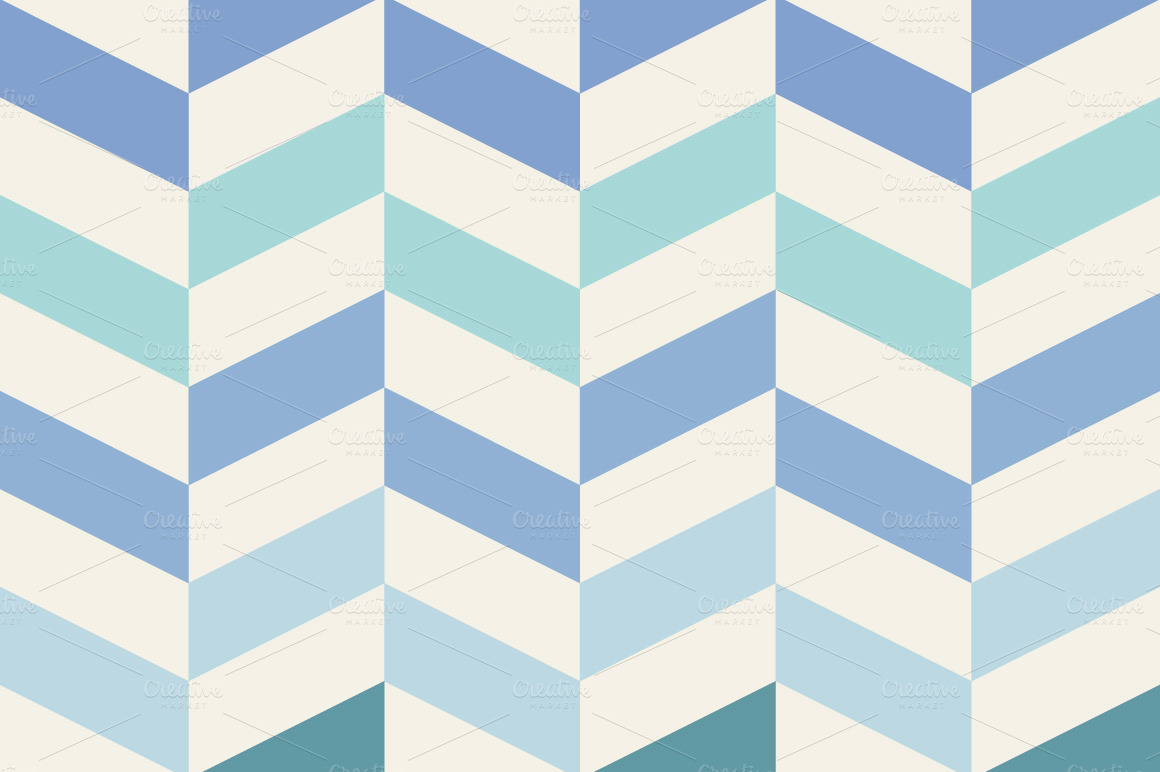 Moose Cute Minimalist Wallpaper Blue Geometric Pattern