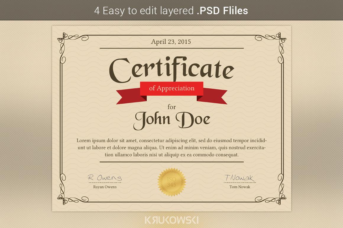 appreciation certificate templates free