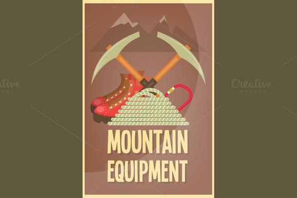 Mountain climbing illustrations on creative market