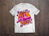Roller Skating T-shirt design ~ Illustrations on Creative ...
