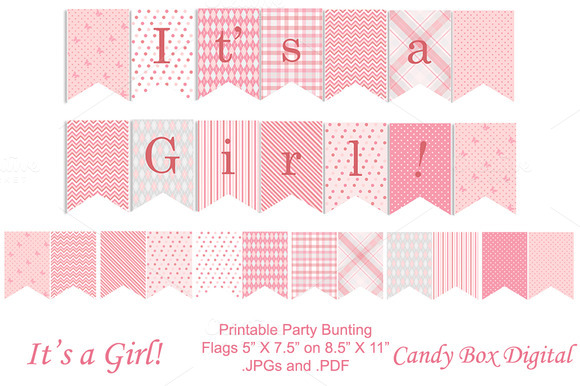 Baby Girl Nursery Wallpaper Borders Baby Girl Full Size Party Banner Objects On Creative Market