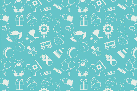 Really Cute Teal Teal Wallpaper Seamless Baby Pattern Patterns On Creative Market