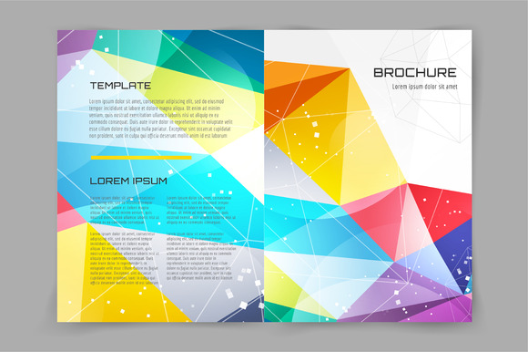 How To Create an Abstract Geometric Mosaic Text Effect - annual report cover page template