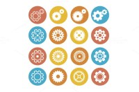 Gear Icon Set. Flat Design. Vector ~ Icons on Creative Market