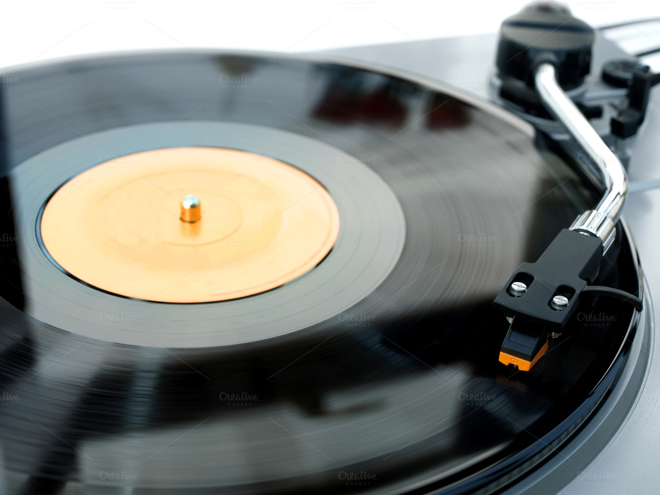 3d Vinyl Records Wallpaper Record Player With Vinyl Playing Technology Photos On