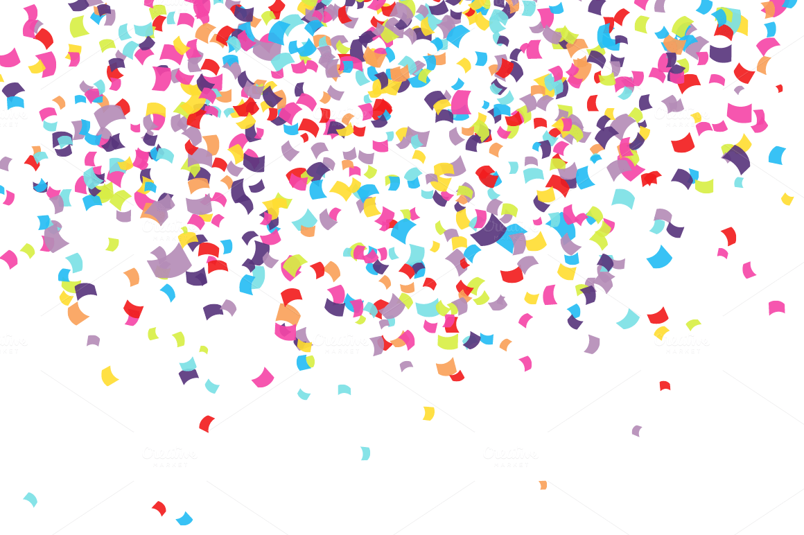 Drops Rainbow 3d Wallpaper Confetti Patterns On Creative Market