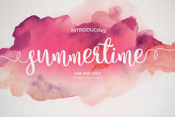 Cute Cactus Wallpaper Macbook Summertime Script Fonts On Creative Market