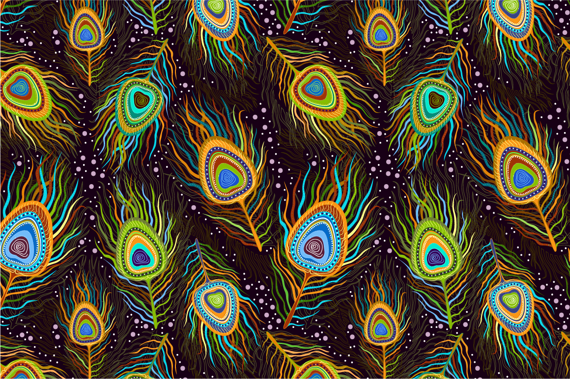 Ganpati 3d Wallpaper Seamles Pattern Quot Peacock Feathers Quot Patterns On Creative
