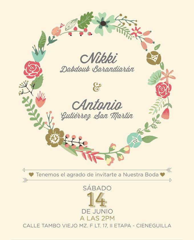 DIY Wedding Invitations Floral ~ Creative Market Blog - wedding card designing