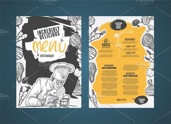 50 Restaurant Menu Designs That Look Better Than Food ~ Creative