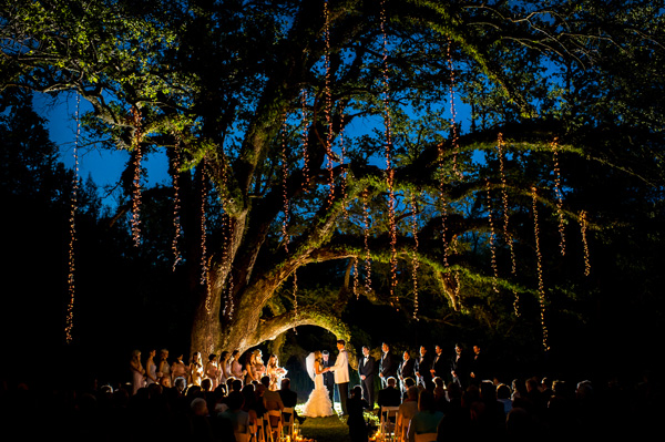 Fall String Lights Wallpaper Weddings A Dramatic Evening Ceremony In Mississippi Kara Jon