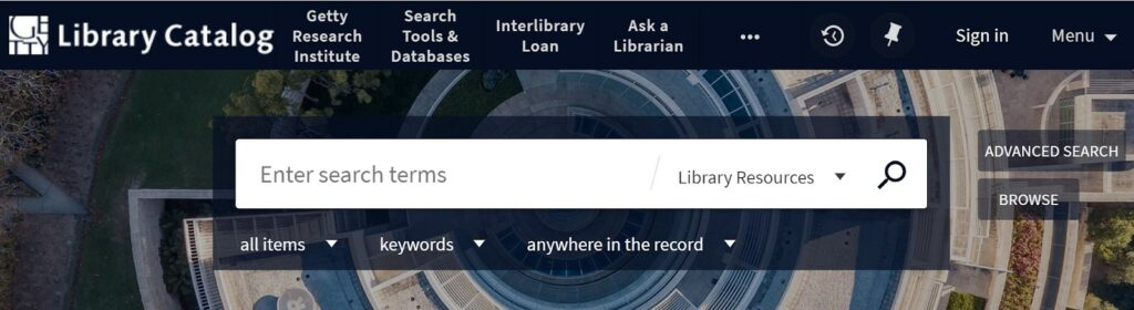 Getty Research Institute Library Blog \u2013 Information for our library
