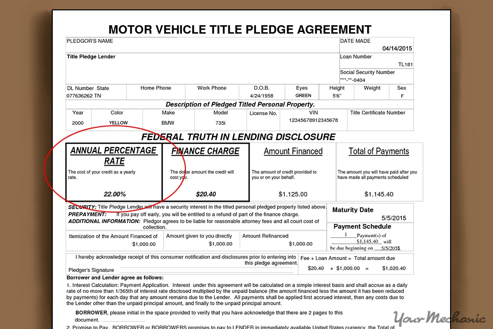 How to Determine the Total Interest Paid on a Car Loan - loan document