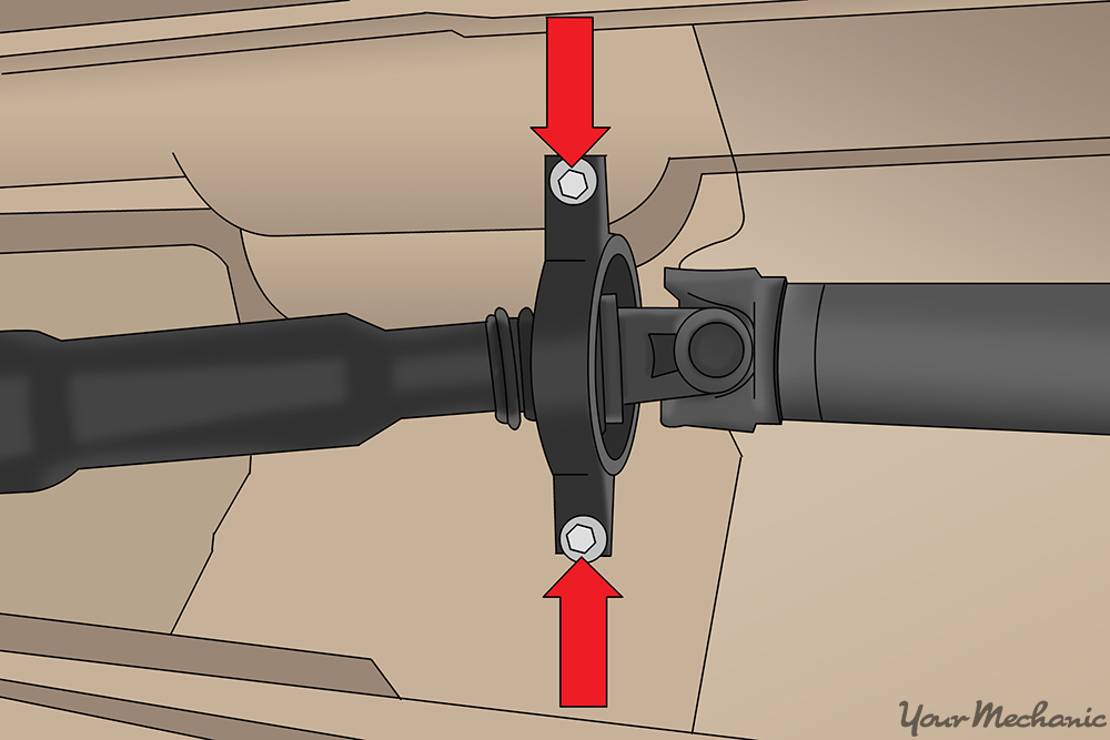 How to Replace a Driveshaft Center Support Bearing YourMechanic Advice