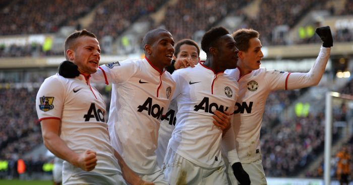 Danny Welbeck Tom Cleverley Manchester United