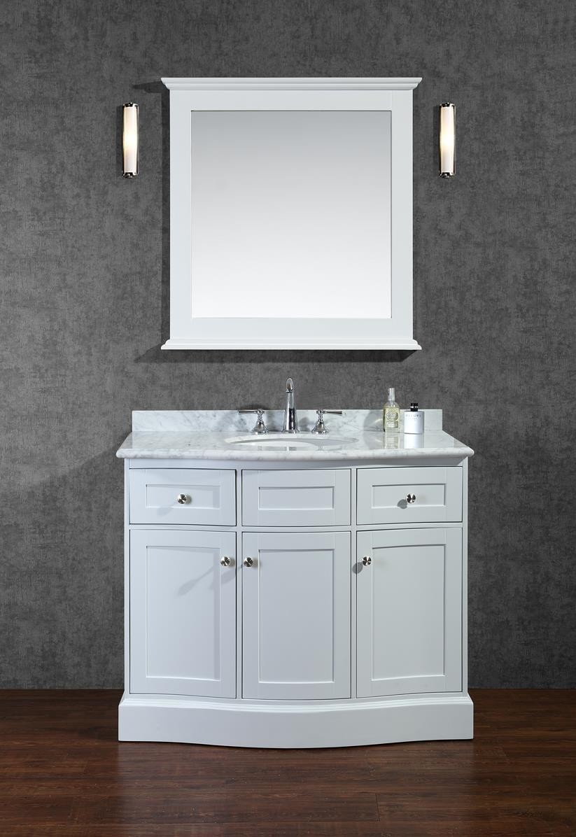 Small Bathroom Vanity With Sink Ariel Bath Scmon42swh By Seacliff Designs Bathroom Vanity 42
