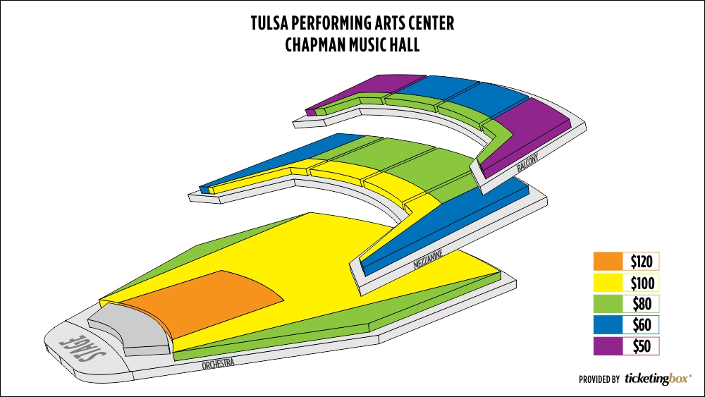 Tulsa Pac Seating Chart Detailed \u2013 Best Cars 2018