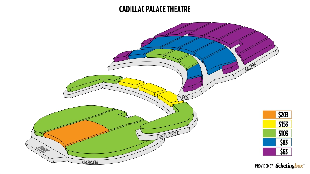 Cadillac Palace seating chart local stuff to try Pinterest - chore chart