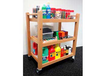 Harmony Wooden 3 Tier Trolley With Brakes Mta Catalogue