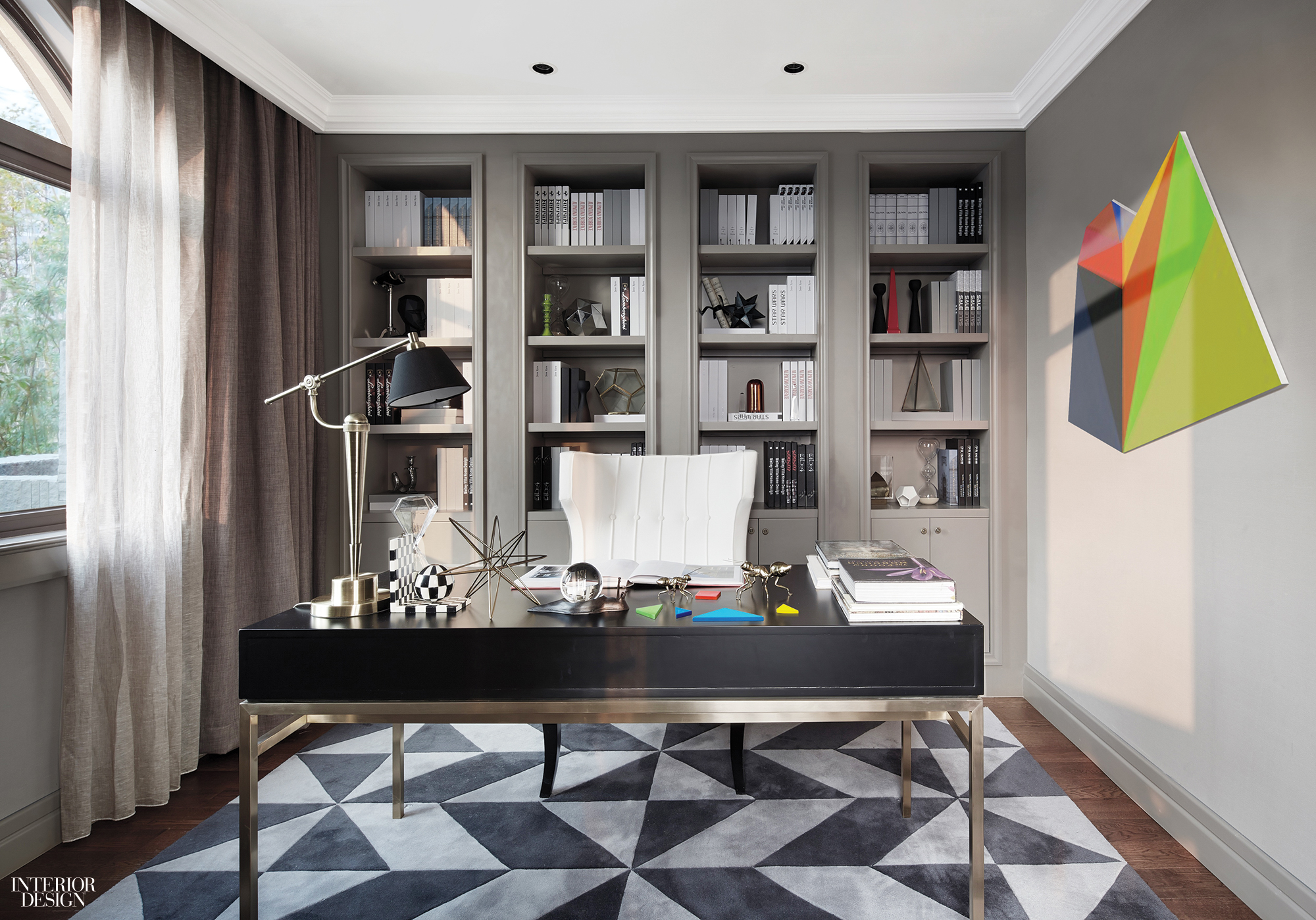 Gray Interior Design 20 Quiet Home Offices Just In Time For Tax Day