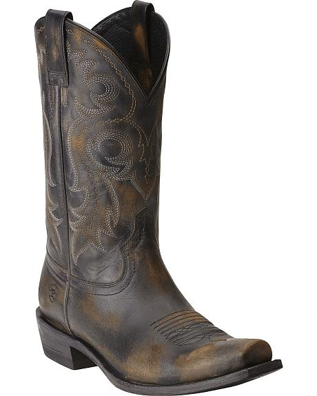Ariat Lawless Rustic Black Cowboy Boots Square Toe