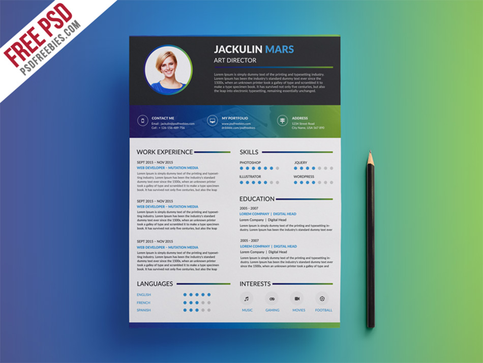 Best Free Resume Templates For Designers - resume template website