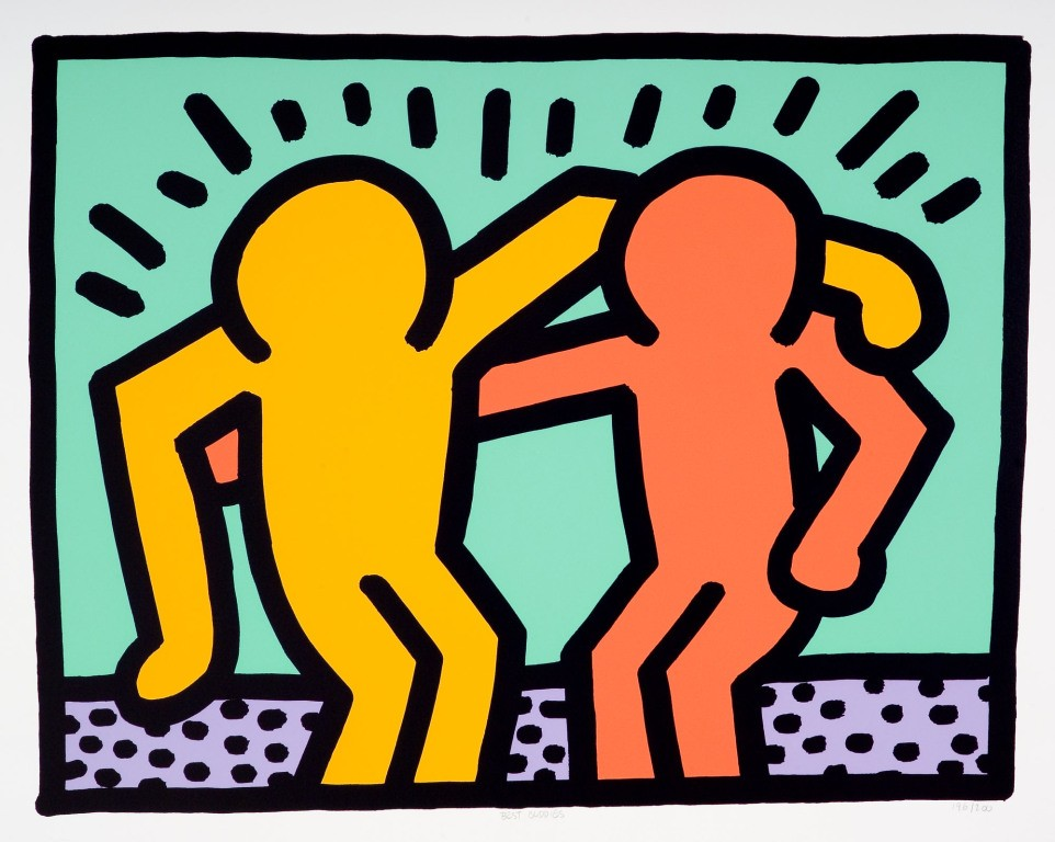 Keith Haring - Best Buddies for Sale Artspace - best buddies organization