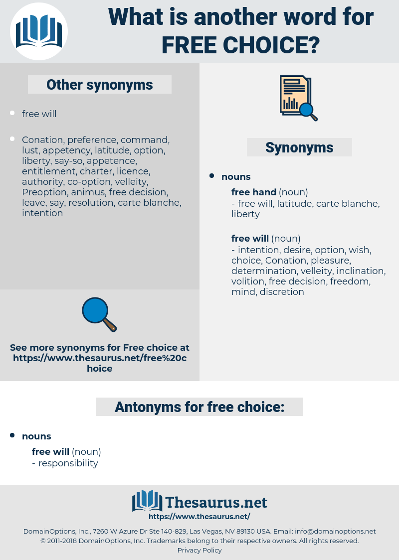 Carte Blanche Synonym Synonyms For Free Choice Antonyms For Free Choice Thesaurus