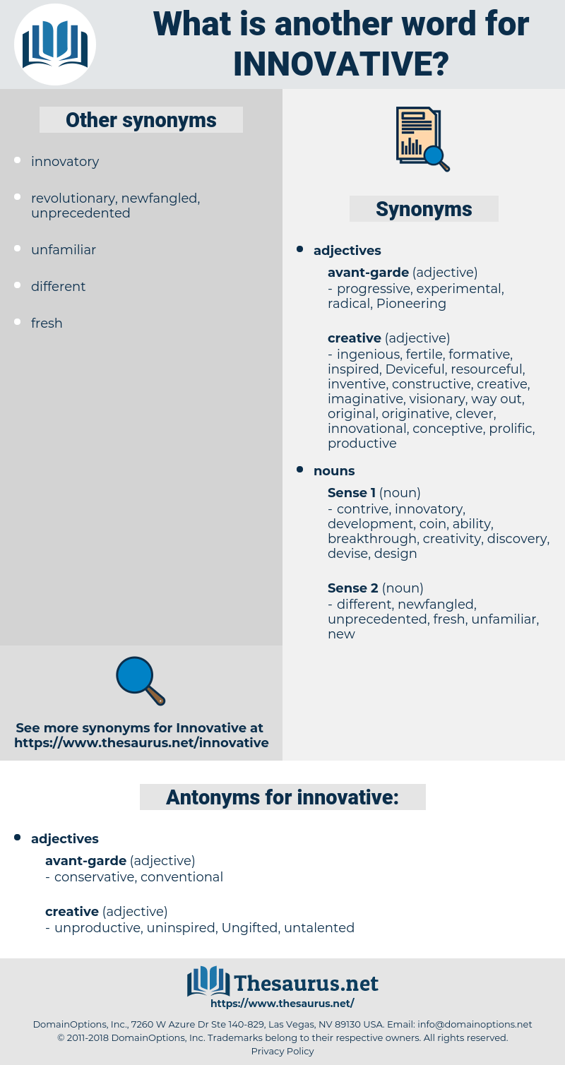 Synonym Innovativ Synonyms For Innovative Antonyms For Innovative Thesaurus