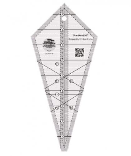 Creative Grids Starburst 30 Degree Triangle Ruler CGRISE30 - starburst templates